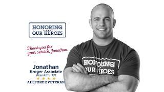 Honoring our Heroes Veteran Jonathan│VIDEO │Kroger