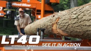 Wood-Mizer LT40 Hydraulic Portable Sawmill in Action