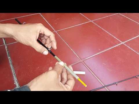 Tutorial Pemula | Cara Mudah Memperbaiki Stik Pancing Karbon Yang Patah #17