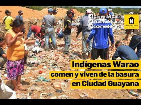 Indígenas Warao comen y viven de la basura en Ciudad Guayana