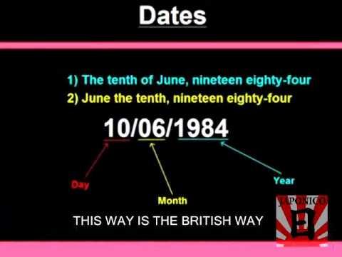 Como decir las fechas en Inglés Learn HOW TO SAY THE DATES IN
