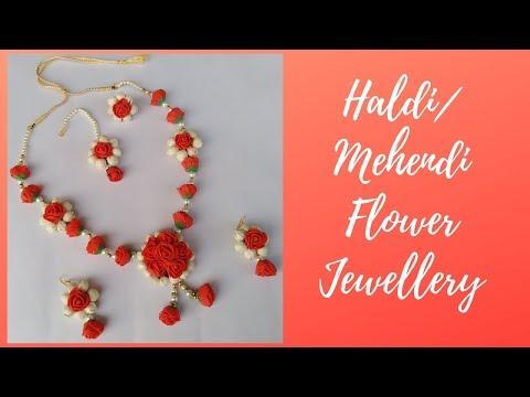 Haldi/Mehendi Flower Jewellery   Go Handmade