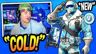 "NINJA UNLOCKS *NEW* ""FROSTBITE"" SKIN! (DEEP FREEZE BUNDLE!) Fortnite FUNNY & SAVAGE Moments"