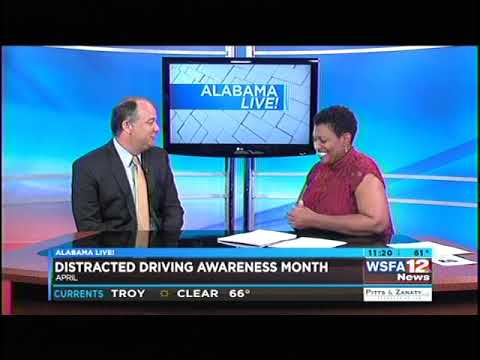 Jeff Hunter discusses Distracted Driving on WSFA NBC 12's Alabama Live