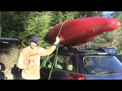 How to: Car topping kayaks and strapping them down