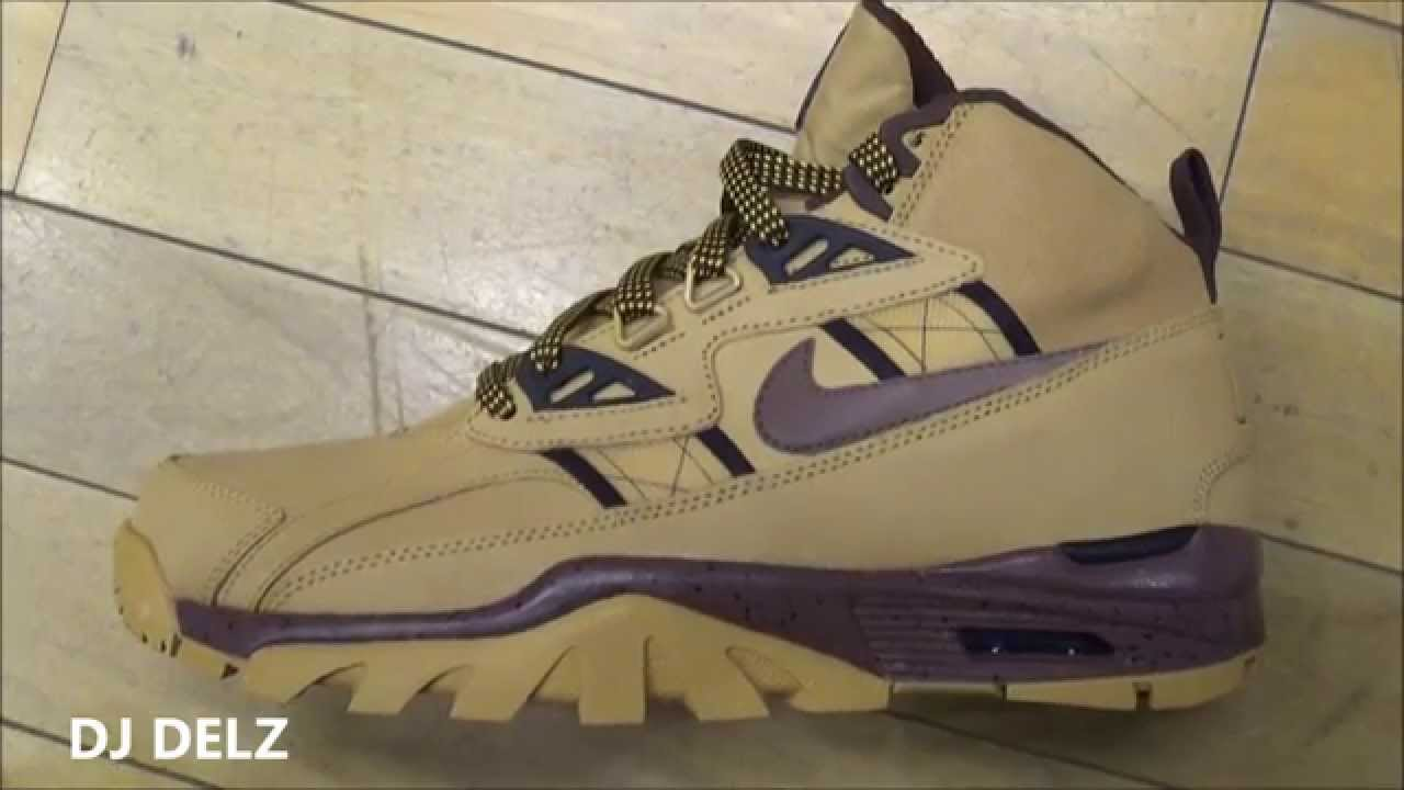 Nike Air Trainer SC Wheat Boot Bo Jackson #HotOrNot With Dj Delz - YouTube