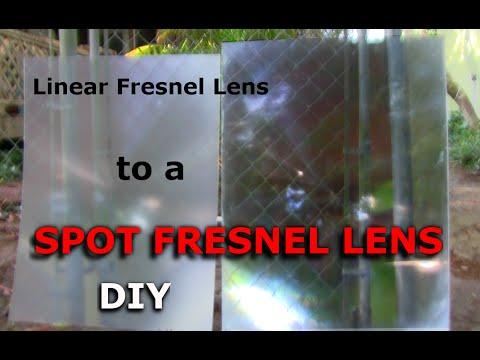 Convert Linear Fresnel Lens To A Spot Fresnel Lens
