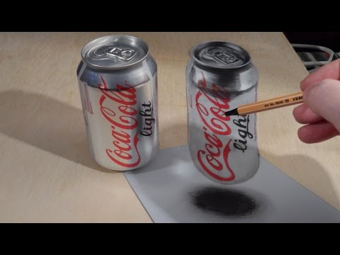 Stunning 3D Drawing of a Coca-Cola Can - Short Video