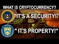Is Cryptocurrency A Security, Property, Utility Token, Or Money?