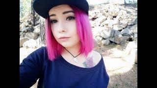 Красим волосы самодельной краской!!! Розовая зелёнка! Фукорцин!!