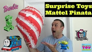 Surprise Toys Piñata Opening | Mattel AG Mega Bloks MH Minecraft | PSToyReviews