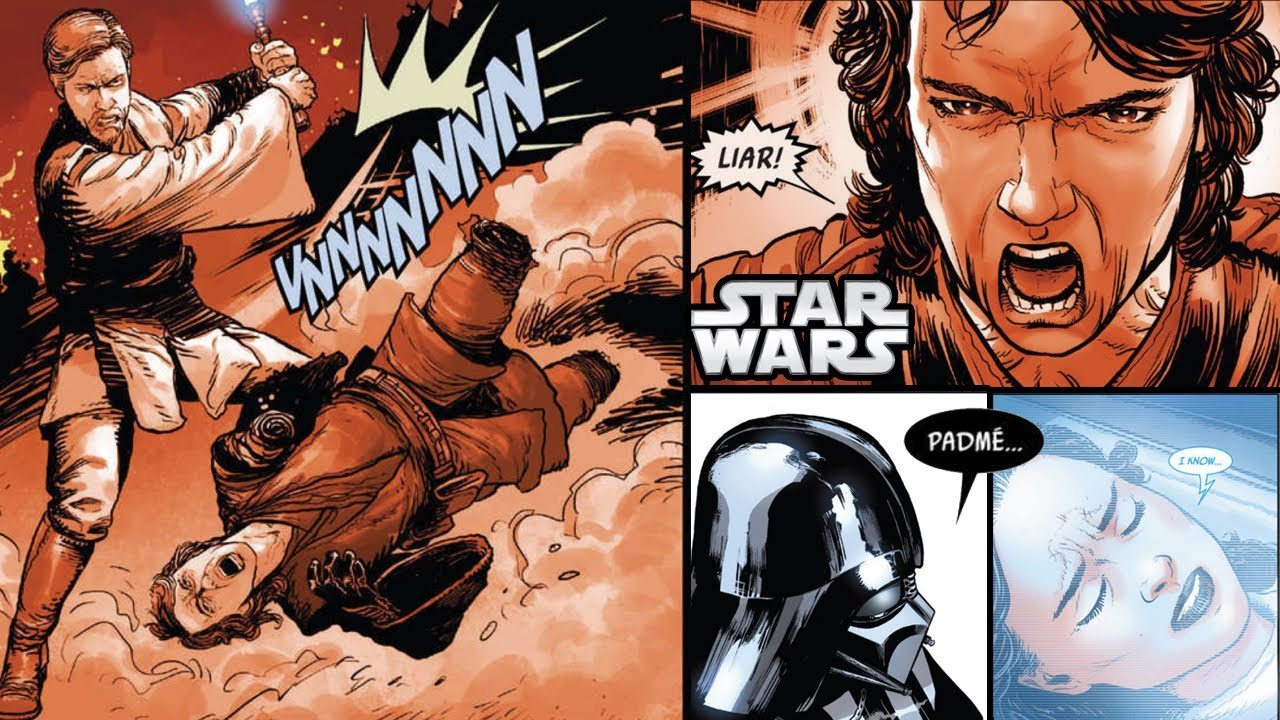 Vader Sees Anakin Lose to Obi-Wan and Padme Officially Die (CANON) (voice acted)