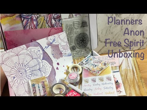 Planners Anonymous Unboxing and Walkthrough - Free Spirit