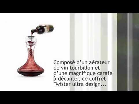 Carafe à Décanter Twister - vivre-mieux.com - YouTube 6d1bcb1cb812
