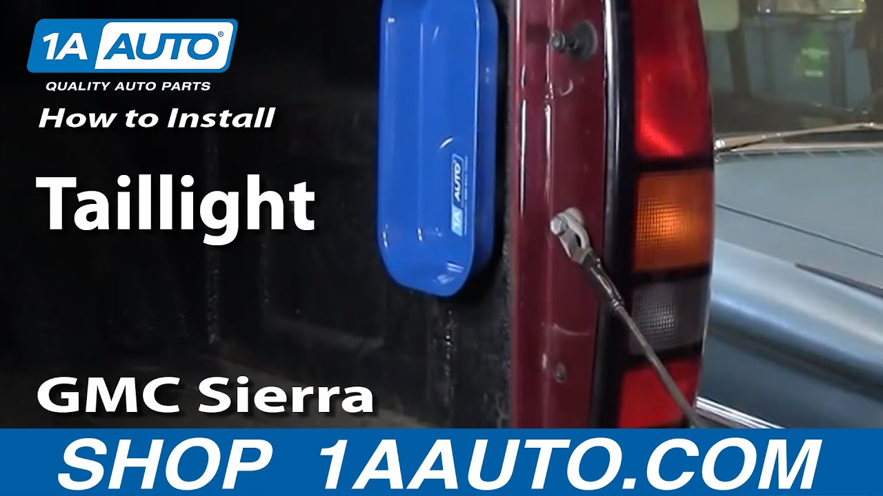 hight resolution of how to replace tail lights 04 06 gmc sierra