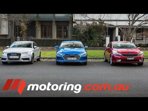 Audi A3 v Hyundai Elantra v Kia Cerato