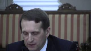 Сергей Нарышкин выступил против спекуляций на истории