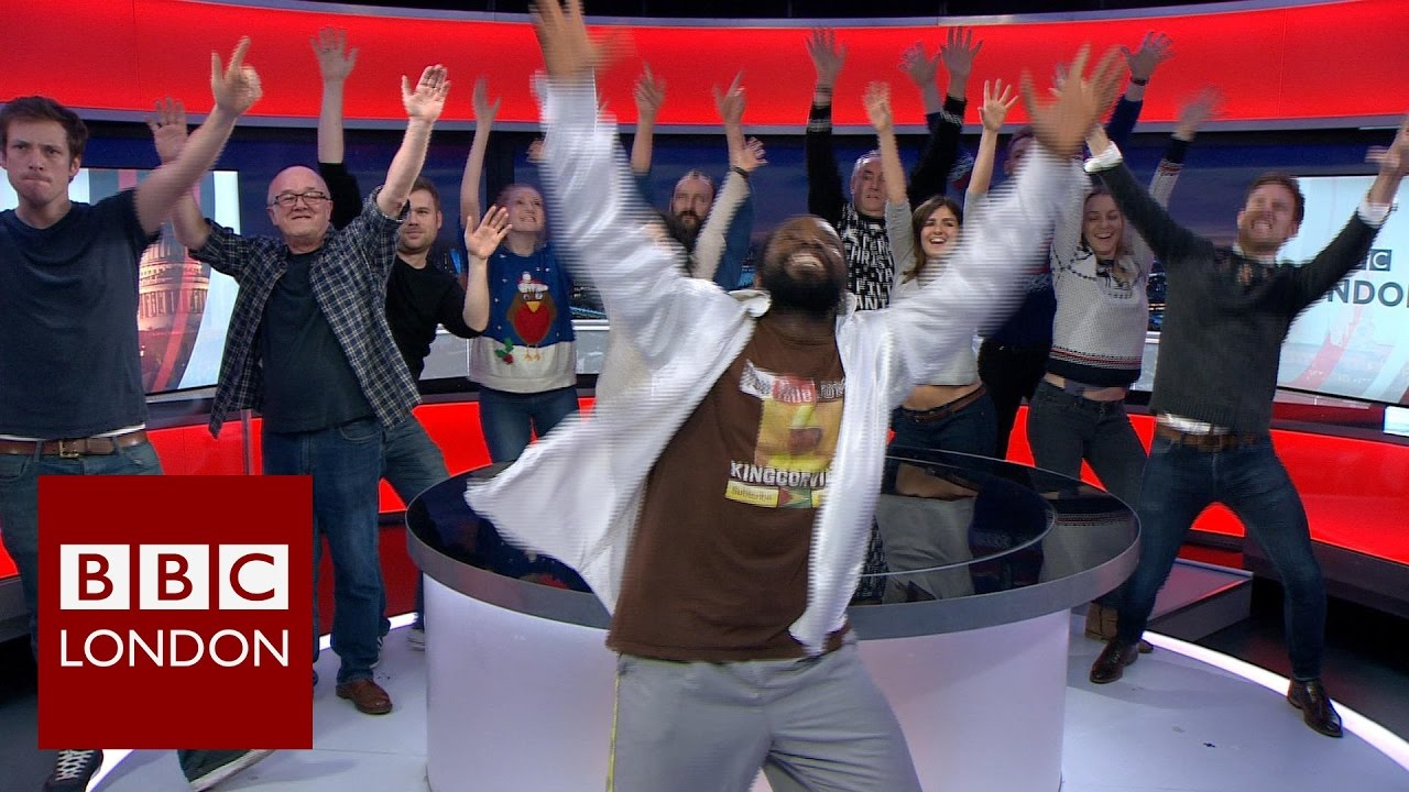 BBC News Photo: When The BBC News Dancing Man Came To BBC London