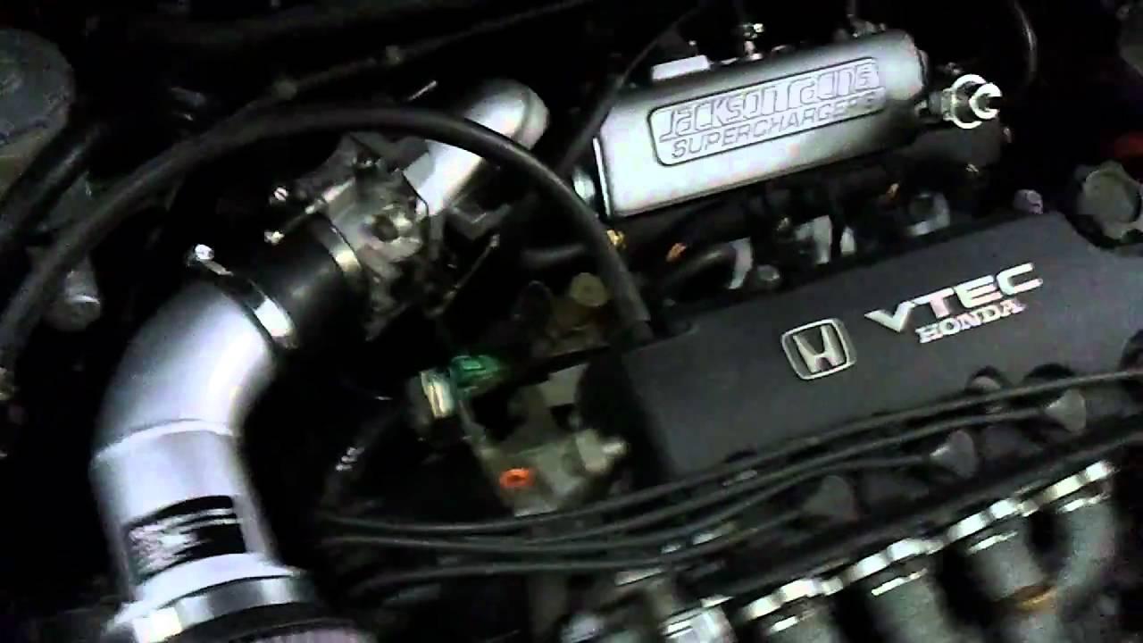 Supercharged D16z6 Honda Logo Youtube