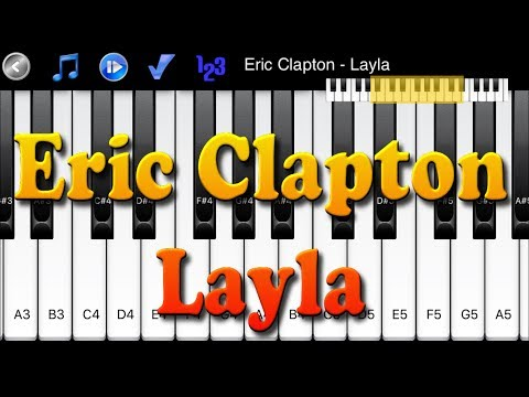 Eric Clapton Layla How To Play Piano Melody Youtube
