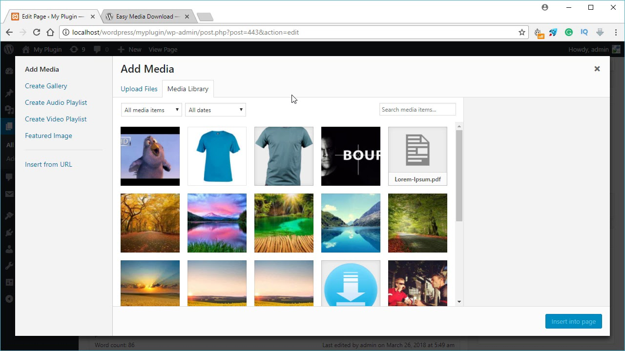 Easy Media Download Plugin for WordPress