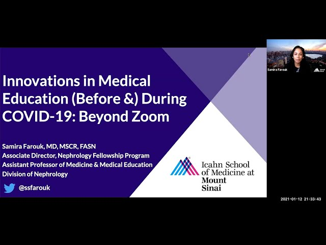 Innovations in Medical Education (Before &) During COVID-19: Beyond Zoom