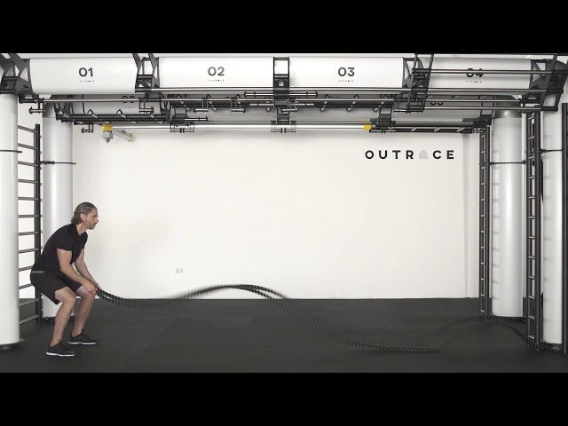 Easy Gym Rope Double Arm Waves