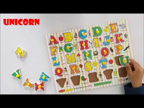 ABCD wooden puzzle | ABCD snake puzzle | Learning AtoZ alphabets for kids.