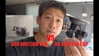 $40 GOPRO SUCTION CUP VS. CHEAP $5 GOPRO SUCTION CUP MOUNT