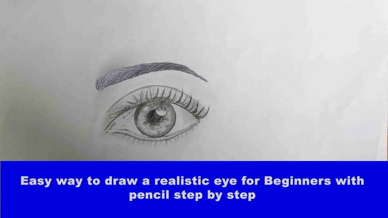 Easy way to draw a realistic eye for Beginners with pencil step by step