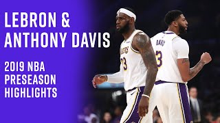 Anthony Davis Will Fit Right In Next To LeBron James | Lakers Preseason Highlights