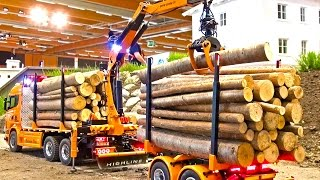 Rc Truck Scania SUPER in Motion - Scania Timber Truck CRANE - Modellbau Wels