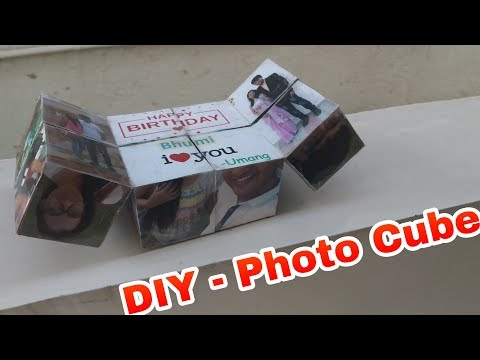 Magic Folding Photo Cube Album for Gift for Valentine's Day - DIY Tutorial Easy