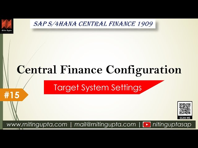 SAP Central Finance - Configuration Video 15