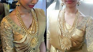 Gold Colour Pattu Wedding Saree Collection   Gold Silk Kanchi Bridal Pattu Sarees 2018 Latest sarees