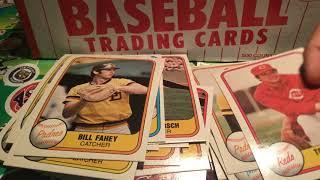 Opening up a Fleer 1981 set Fleers first time Making Baseball ...