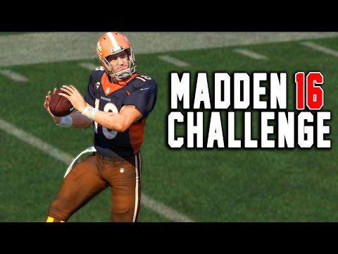 Peyton Manning Kick Return! - Kick Returning With Quarterbacks! - Madden 16 NFL Challenge!