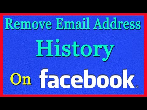 How To Remove Email Address History On Facebook From Firefox