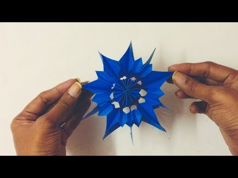 Beautiful Paper Star for Christmas | How To Make A Beautiful Paper Snowflake Easy