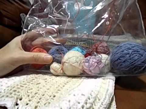 вязание крючком ковриков из остатков пряжи