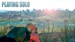 Playerunknown's battlegrounds playing solo / top one!