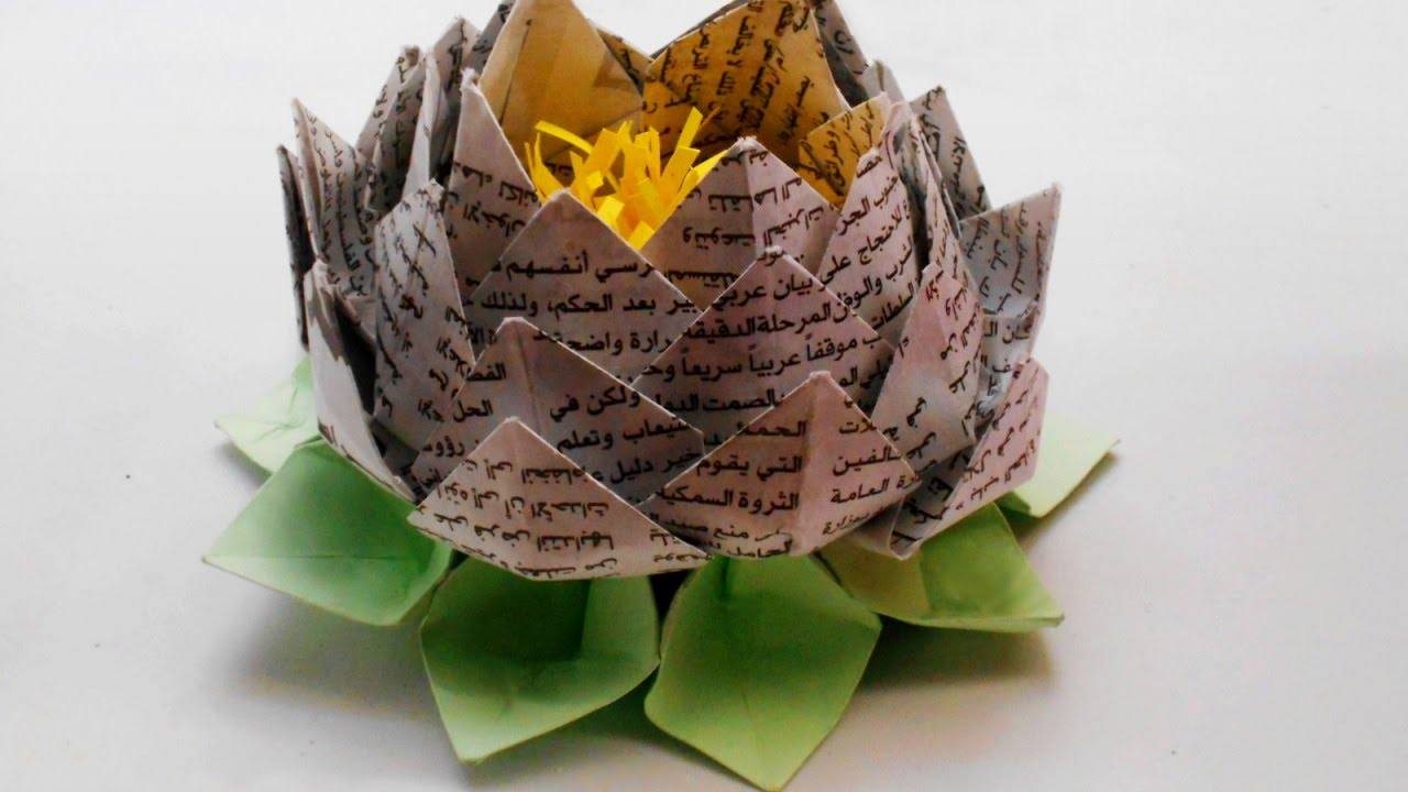 make an origami lotus flower diy guidecentral youtube