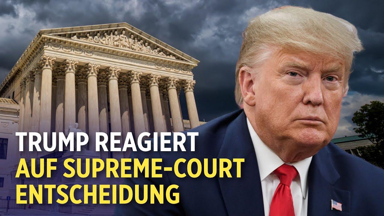 Supreme Court weist Wahlklagen ab | Trump reagiert auf Supreme-Court-Entscheidung zu seinen Steuern