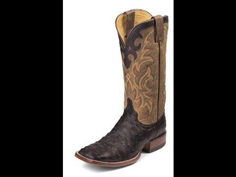 f60986179ce Justin Boots Mens Aqha Remuda - Black Full Quill Ostrich 8504