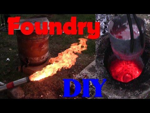 Aluminum/ Brass Furnace and Burner Build