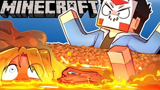 SQUIRREL'S NEW FRIENDS FELL INTO LAVA ON MINECRAFT! -  Ep. 13!