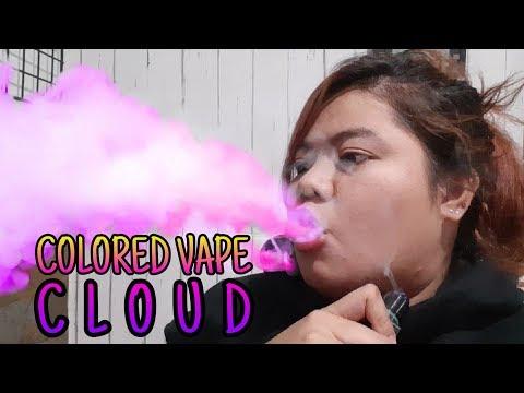 Colored Vape Smoke Tricks