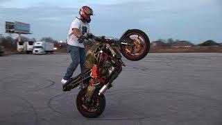 Sport Bike Freestyle Stunt Session - Funday Sunday