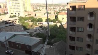 VHF/UHF antenna on balcony