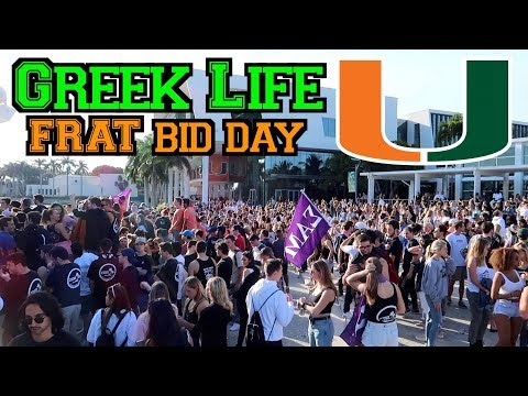 GREEK LIFE AT UMIAMI | FRAT BID DAY VLOG